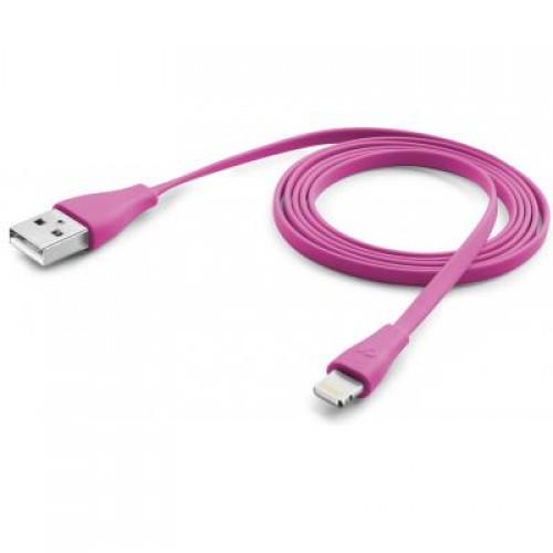 Дата кабель Cellular Line Lightning 1m pink (USBDATACFLMFIIPH5P)