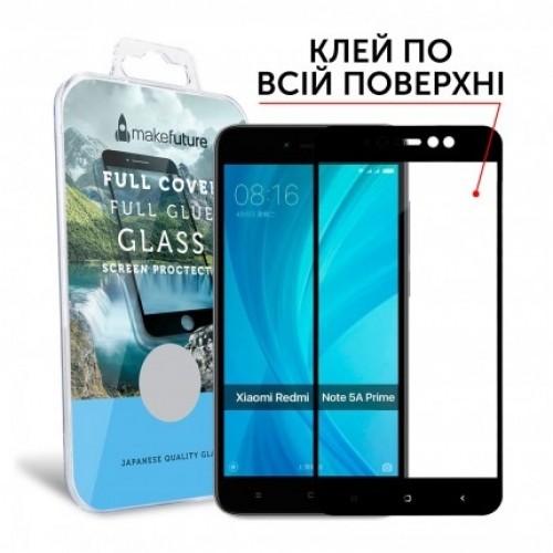 Защитное Стекло Makefuture Full Cover Full Glue Xiaomi Redmi Note 5A Prime Black